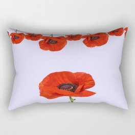 MODERN RED-ORANGE POPPIES DESIGN Rectangular Pillow