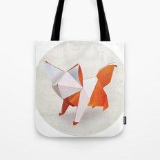 Origami Fox Tote Bag