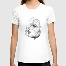 Face Off Womens Fitted Tee SMALL White