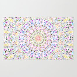 Colorful Tribal Triangle Mandala Rug