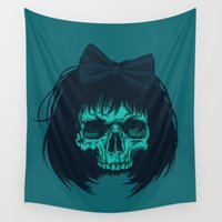bow Wall Tapestries featuring Hair bow by Roland Banrevi
