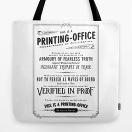 Printing Office Tote Bag