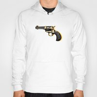 gun Hoodies featuring gun by mark ashkenazi