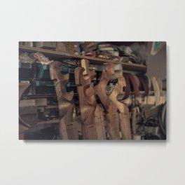Fórcola in Five Woods Metal Print