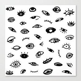 Bad Eyes (White) Canvas Print
