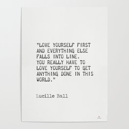 Lucille Ball quote Poster