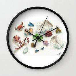 Denman Island Treasures Wall Clock