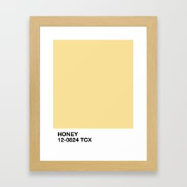 honey Framed Art Print