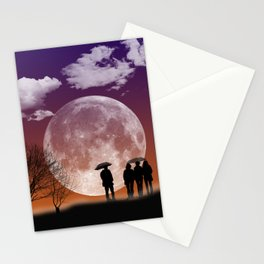 """""""Walking in front of the moon"""" #digital #art Stationery Cards"""