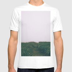 Into the unknown White MEDIUM Mens Fitted Tee