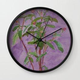 Pinks and Purple Wall Clock