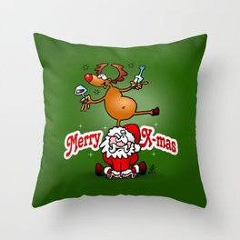 Merry X-mas Throw Pillow