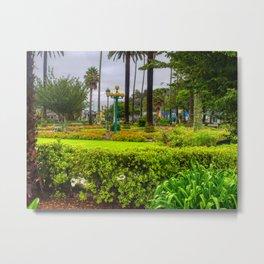 Green Clive Square Garden Napier Metal Print