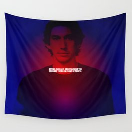 "Acting is really... ""Adam Driver"" Celebrity with Quote Wall Tapestry"
