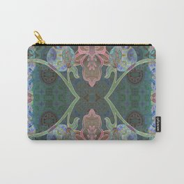 Elegant Detailed Orchid Meditation Pattern Carry-All Pouch