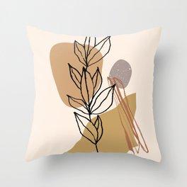Minimalistic Twig #shapeart #digitalart Throw Pillow