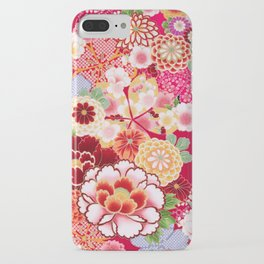 Red Floral Burst iPhone Case