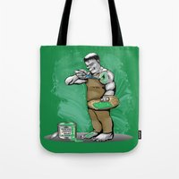 hulk Tote Bags featuring Hulk by RebeccaMiller