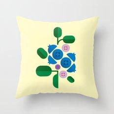 Fruit: Blueberry Throw Pillow