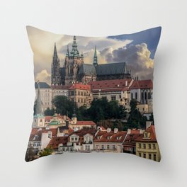 Sunny day in Prague Throw Pillow