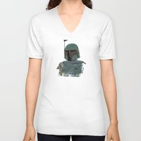 boba fett V-neck T-shirts featuring Boba Fett by Hey!Roger