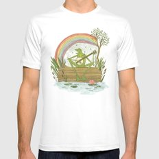 Rainbow Connection Mens Fitted Tee LARGE White
