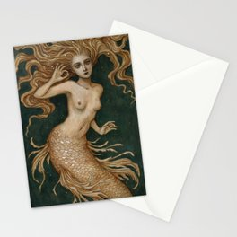 Mermaid with a pearl Stationery Cards