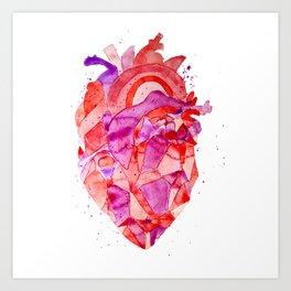 heart Fractal Art Print