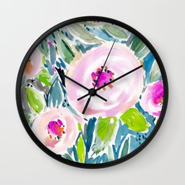 Ballerina Blow Out Floral Wall Clock