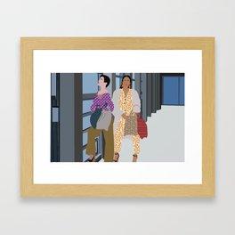 fashionista minimalist illustration Framed Art Print