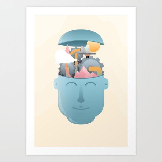 Turning Cogs Art Print