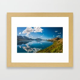 Breathtaking View from a famous scenic Lookout at Lake Wakatipu Framed Art Print