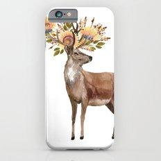 Boho Chic Deer With Flower Crown Slim Case iPhone 6s