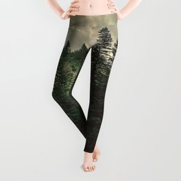 Pacific Northwest River - Nature Photography Leggings