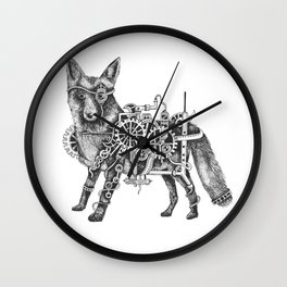 Foxley-Norris the Steampunk Fox Wall Clock