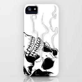 Skull #4 (Smoke and Bone) iPhone Case