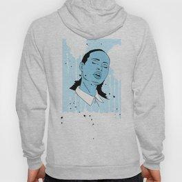 Woman in Blue Hoody