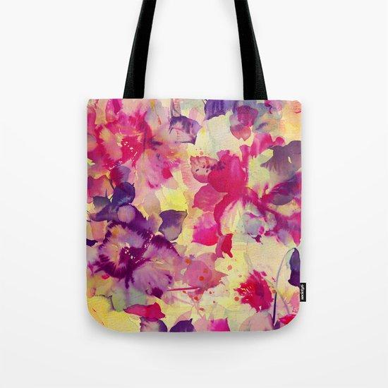 abstract aqua floral Tote Bag
