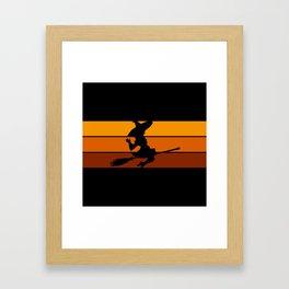 Witch - Orange Framed Art Print