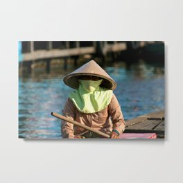 Tonley Sap Lake Lady 2 Metal Print
