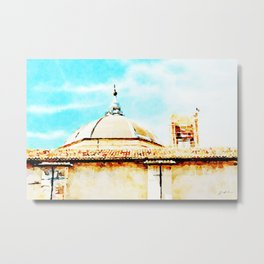 L'Aquila: dome and collapsed bell tower Metal Print