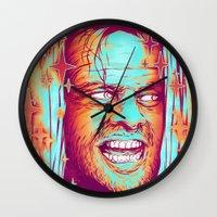 the shining Wall Clocks featuring Shining by Retkikosmos
