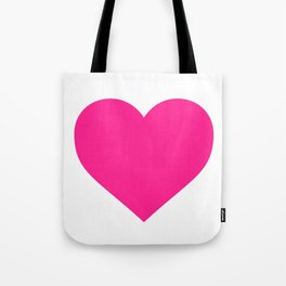 Heart (Dark Pink & White) Tote Bag