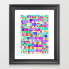 Overlapping Tetris  Framed Art Print