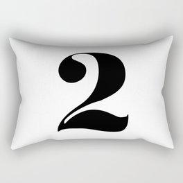 number 2 Rectangular Pillow