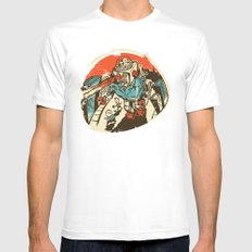 Mechanical Mayhem Mens Fitted Tee MEDIUM White