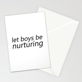 Let Boys be Nurturing Stationery Cards