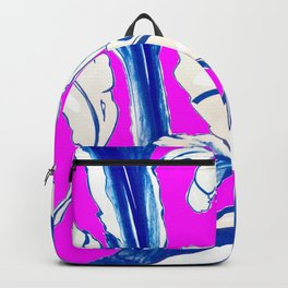 Plant in Blue Marker - Leaf of Life Miracle Leaf - FUCHSIA! Purple? Pink? Backpack