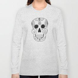 Dia de Muertos Skull (The Day of the Dead Skull) Long Sleeve T-shirt