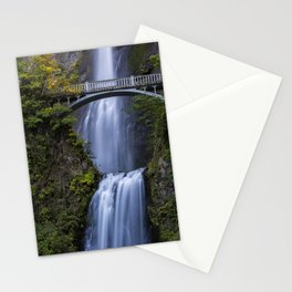 Close-up of Multnomah Falls and Benson Footbridge Stationery Cards